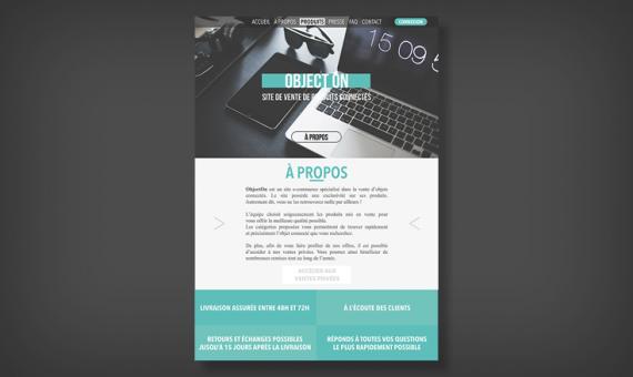 Maquette d'un site e-commerce